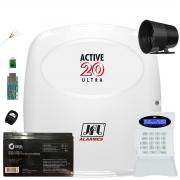 Central de Alarme Active 20 Ultra Com Modulo Ethernet Bateria e Cabo