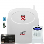 Central De Alarme Active 32 Duo Jfl Ethernet Me-05, Pgm E Teclado