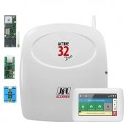 Central De Alarme Active 32 Duo Teclado Ts 400 Modulo Gprs, Pgm e Ethernet
