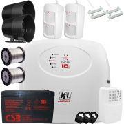 Central De Alarme Ecr 18i Jfl Com Discadora Gsm E Sensores