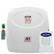 Central de Alarme Monitorada Active 20 Ultra Com Ethernet e Mrf