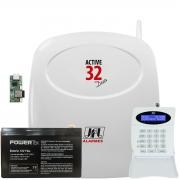 Central Monitorada Active 32 Duo Com Ethernet Teclado E Bateria