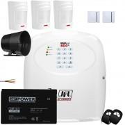Kit Alarme Residencial Gsm Jfl Brisa Cell 804 Com Sensores Sem Fio