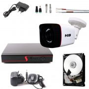 Kit 1 Camera de Segurança Full HD 1080p 2Mp Bullet Dvr 8 Canais