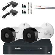 Kit 2 Cameras Bullet Intelbras Hd 720p Hdcvi Vhl 1120 B 100Mts Cabo