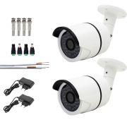 Kit 2 Cameras De Segurança Infra Ahd 960p Com 40mts Cabo E Fonte