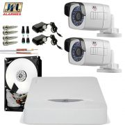 Kit 2 Câmeras Full HD Chd 2130M Dvr 4 Canais Dhd 3304 Hd 1Tb