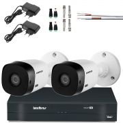 Kit 2 Cameras Hd Intelbras Vhd 720p 1010b L 3.6mm Completo