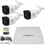 Kit 2 Cameras Infra Full Hd 1080p 2Mp Bullet Externa Chd 2320p Jfl