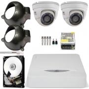 Kit 2 Cameras Infra Hd 720p Dome Metal Externa Chd 1120m Jfl