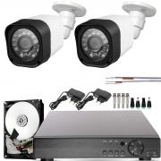 Kit 2 Câmeras Infravermelho Full Hd 1080p Dvr 4 Canais Completo