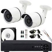 Kit 2 Cameras Infravermelho Hd 1.3mp Externa Completo