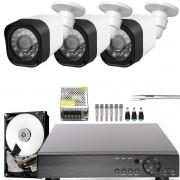 Kit 3 Cameras Infra Hd 2mp 1080p Com Dvr 4ch Externa