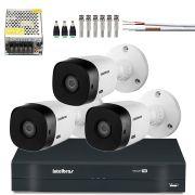 Kit 3 Cameras Intelbras Multi Hd 720p 1010b 3.6mmCompleto