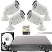 Kit 4 Cameras de Segurança Hd Infravermelho Externa App Cloud Completo