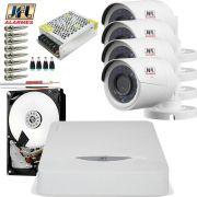 Kit 4 Cameras De Segurança Jfl Hd 720p 30mts Chd 1230p Completo