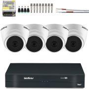 Kit 4 Cameras Dome Hd 720p Intelbras Vhl 1120d Intelbras