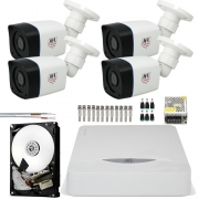 Kit 4 Cameras Infra Full Hd 1080p Bullet Chd 2320p Dvr 8 Canais Jfl