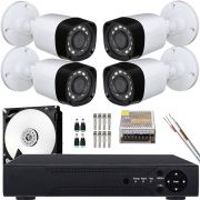 Kit 4 Cameras Infravermelho Hd 720p Lente 2.8mm Acesso Celular