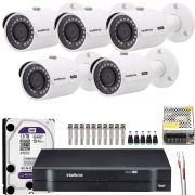 Kit 5 Cameras Infra Full Hd 1080p 2Mp Vhd 3230b Intelbras