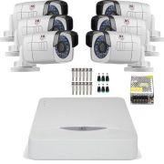 Kit 6 Cameras Full Hd 1080p Bullet Externa Metal 30mts Chd 2130m Jfl
