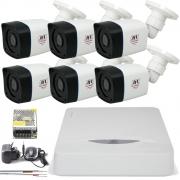 Kit 6 Câmeras Full HD 1080p Chd 2320p Dvr 8 Canais Dhd 1108n