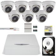 Kit 7 Cameras Dome Metal Full Hd 1080p Jfl Chd 2120m