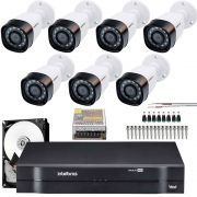 Kit 7 Cameras Intelbras Multi Hd 720p Vhd 1120b G4 2.6mm Completo