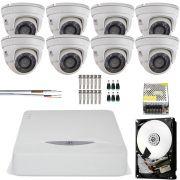 Kit 8 Cameras Dome Metal Full Hd 1080p Jfl Chd 2120m
