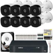 Kit 8 Cameras Intelbras Hd 720p Vhd 1010b 3.6mm Completo
