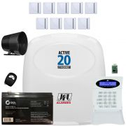 Kit Alarme Active 20 Ethernet e 9 Sensor Mag Shc Fit Jfl