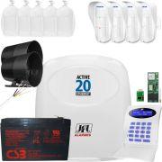 Kit Alarme Active 20 Ethernet Jfl Com Sensor Externo Dse 830