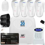 Kit Alarme Active 20 Ethernet Jfl Com Sensores Externos DSE 830