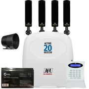 Kit Alarme Active 20 Ethernet Sensores Barreira Iva 315 Jfl