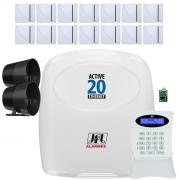 Kit Alarme Active 20 Ethernet Sensores Magnético Sem Fio Shc Fit