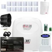 Kit Alarme Active 20 Gprs Sensores Sem Fio Irs 430i e Shc Fit