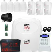 Kit Alarme Active 20 Ultra Com Ethernet E Sensor Idx 1001 E Ird 640 Jfl