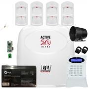 Kit Alarme Active 20 Ultra Com Sensor Pet 30Kg Ird 640 Jfl