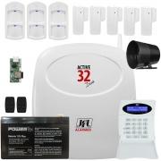 Kit Alarme Active 32 Duo Com Sensores Ird 650 e Sl 220 Duo Jfl