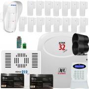 Kit Alarme, Active 32 Duo, Com Sensores Sl 220 Duo, e Dse 830 Jfl