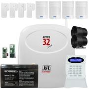 Kit Alarme Active 32 Duo Jfl Com 4 Sensor Pet 520 Duo e 4 Sensor Sl 220 Duo