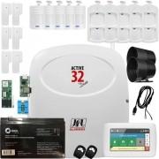 Kit Alarme Active 32 Duo Jfl com Sensores Sem Fio e Teclado Ts 400