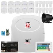 Kit Alarme Active 32 Duo Sensores Ird 650 Duo e Sl 220