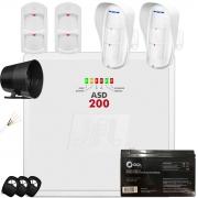 Kit Alarme Asd 200 Jfl Com Sensores Dse-830 E Ird-640  Jfl