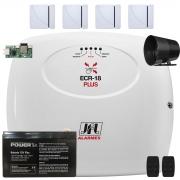 Kit Alarme Com Cerca Elétrica Ecr 18 Plus Jfl Acesso via App