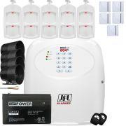Kit Alarme Gsm Brisa Cell 804 Sensores Ird 640 e Shc Fit Jfl