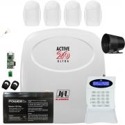 Kit Alarme Jfl Active 20 Ultra com Sensores Idx 1001 Jfl