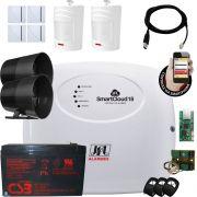 Kit Alarme Jfl Smartcloud 18 Com Modulo Ethernet E Bateria E Sensores