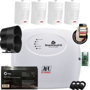 Kit Alarme Jfl Smartcloud 18 Com Sensor Sem Fio Irs 430i Jfl