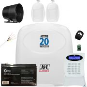 Kit Alarme Monitorado Active 20 Ethernet Sensores Idx 1001
